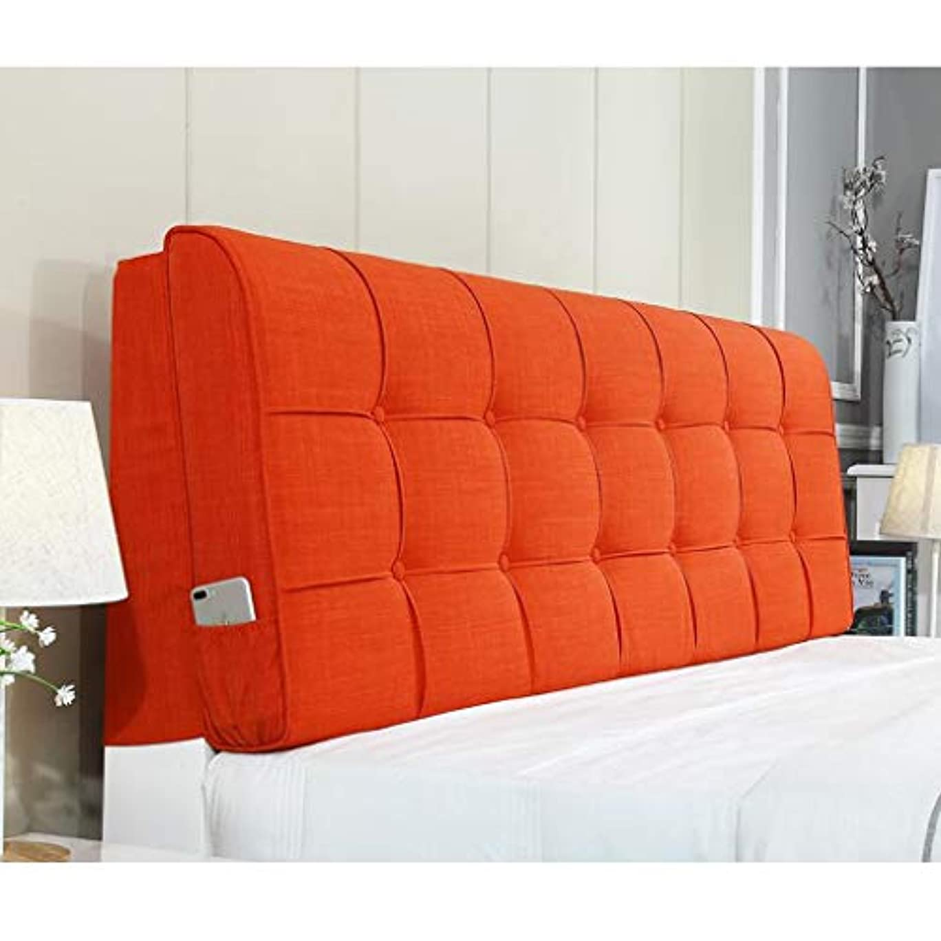 成長荒れ地前兆ベッドサイドクッションソフトバッグ大背もたれ木製ベッド背もたれ枕子供はバッグウエストパッドファブリックウォッシャブルに依存しています Zsetop (Color : D, Size : 150*58cm)