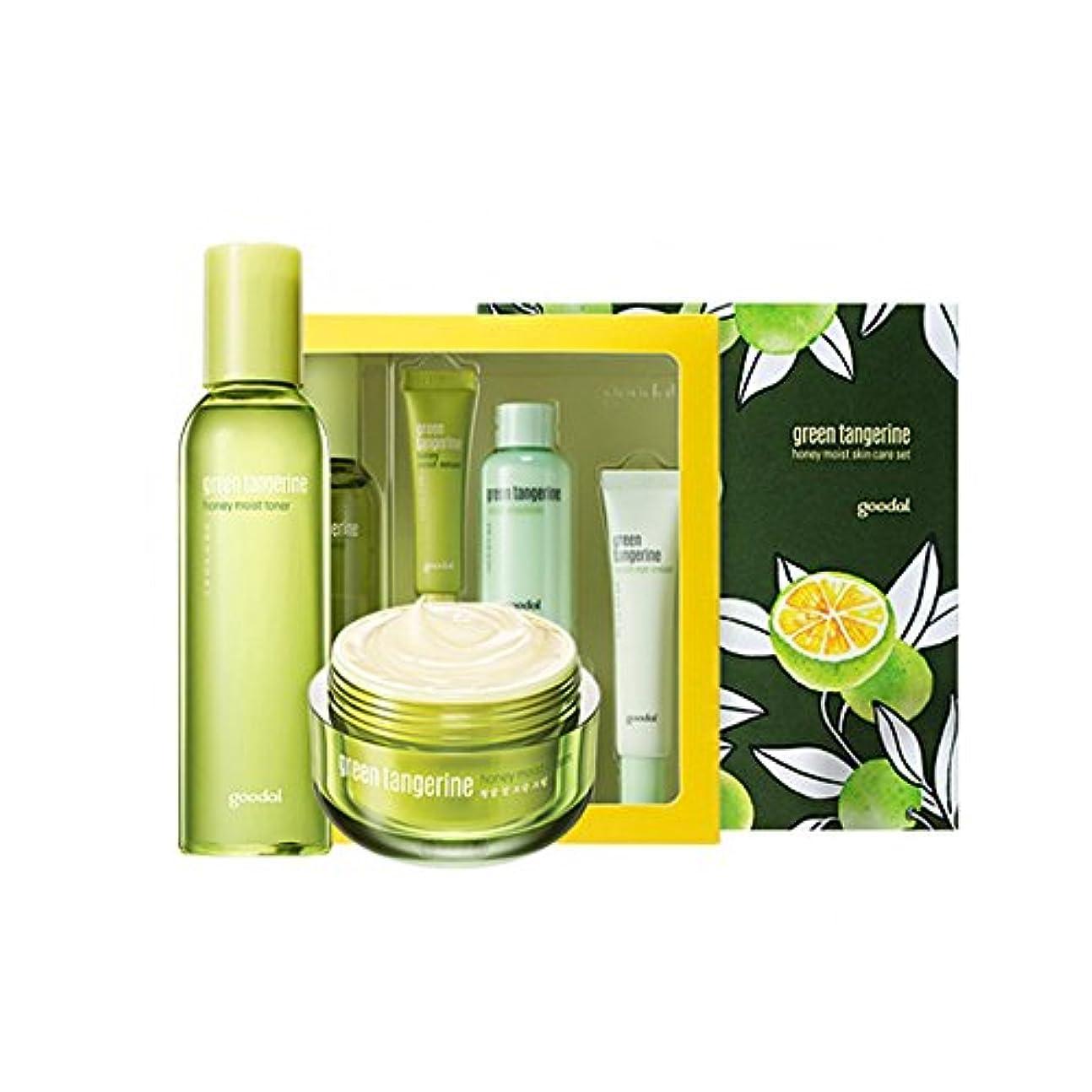 以下奪うサラミgoodal Green Tangerine Honeyチョンギュル 水分ケアセットMoist Skin Care SET (Moist Toner + Moist Cream) [韓国並行輸入品]