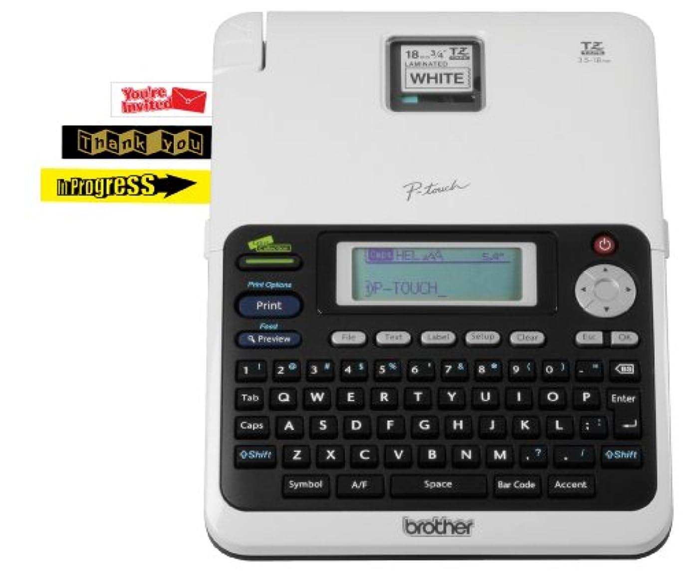 番目操作可能ごちそうBrother ブラザー工業 Desktop Office ラベルプリンター whith キャリーケース (PT2030VP) [並行輸入]