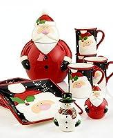 クリスマスcut-outs by OneidaサンタDessert Plates ( Set of 4)