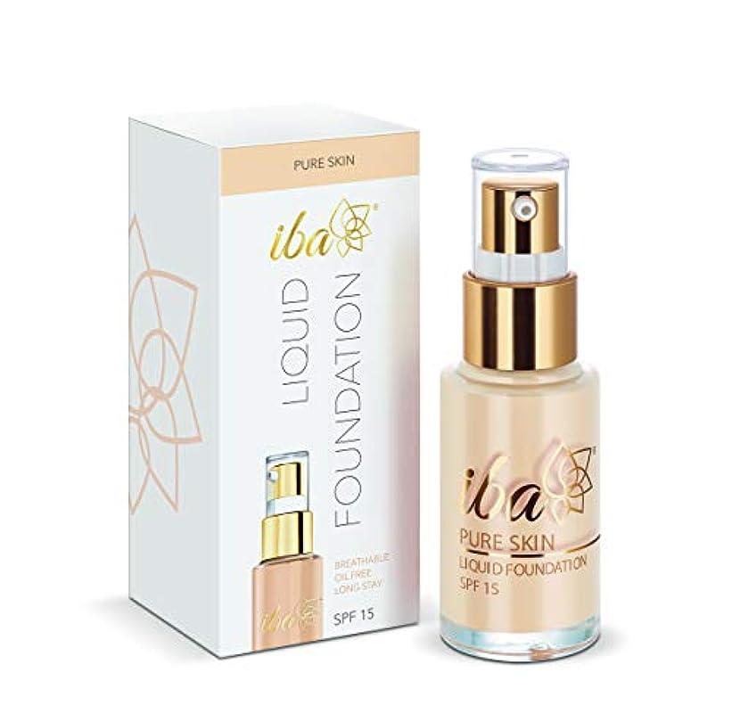 コンデンサー暖炉トーンIba Halal Care Pure Skin Liquid Foundation, Snow White, 30 ml