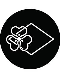 家紋シール 糸輪に陰菱出片喰紋 布タイプ 直径40mm 6枚セット NS4-1735