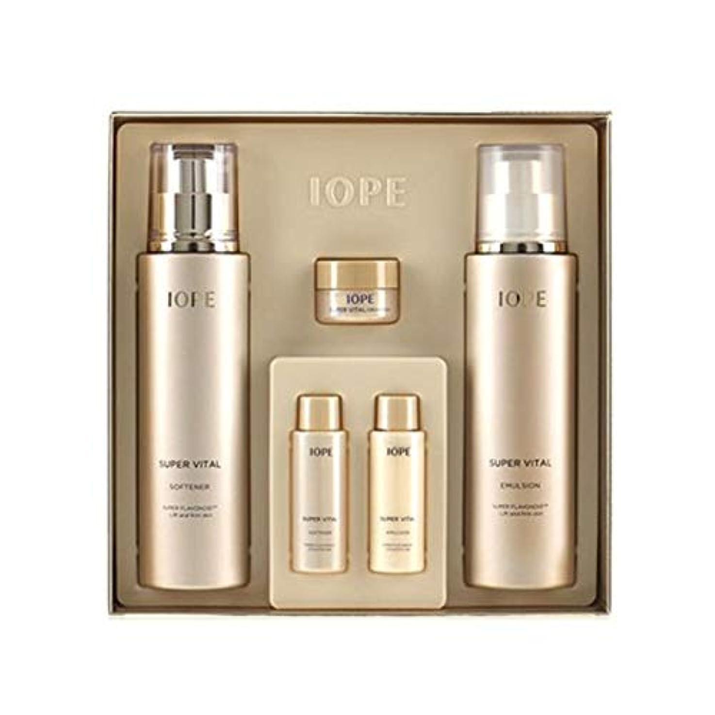 パラダイス現金モノグラフアイオペスーパーバイタル基礎化粧品ソフナーエマルジョンセット韓国コスメ、IOPE Super Vital Softener Emulsion Set Korean Cosmetics [並行輸入品]