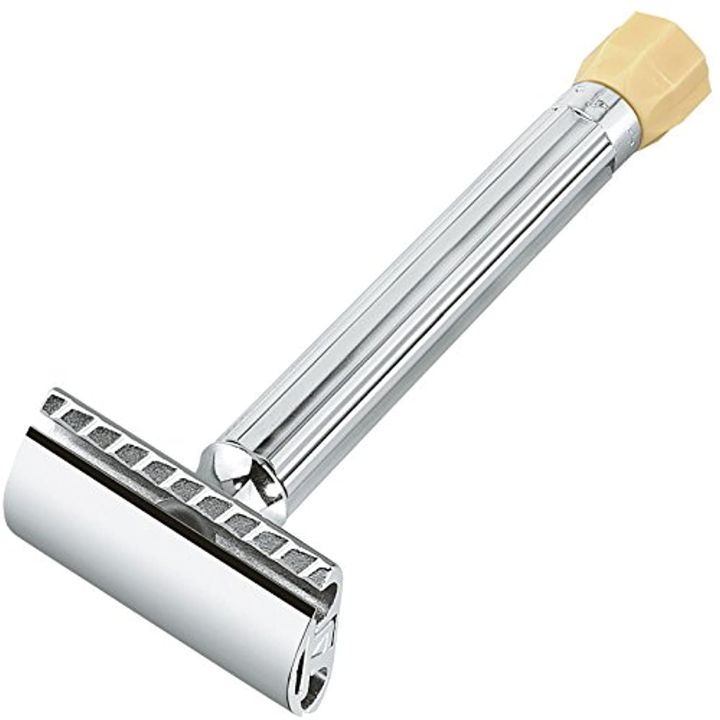 前方へ頑丈確認するMERKUR Solingen - Safety razor, long handle, blade regulation, 90510001