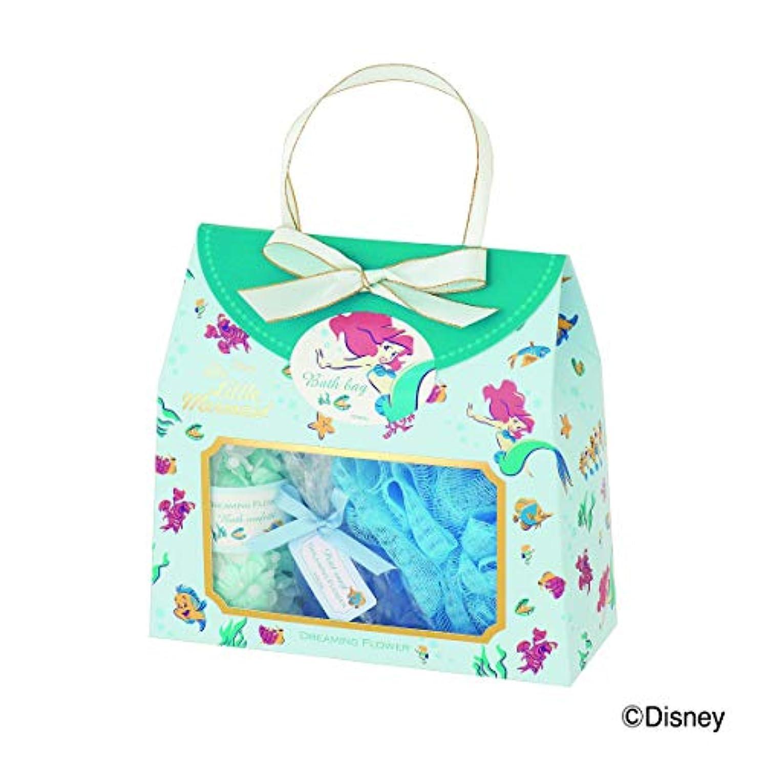 お手伝いさん主署名ディズニーフレグランスコレクション バスバッグト5点セット アリエル ドリーミングフラワー(透明感のあるムスクの香り)