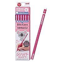 三菱鉛筆 鉛筆 かきかたグリッパー B ピンク 1ダース K6905B