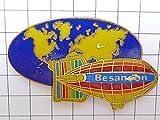 限定レア美品ピンズ◆地球と飛行船ブザンソンピンバッチフランス