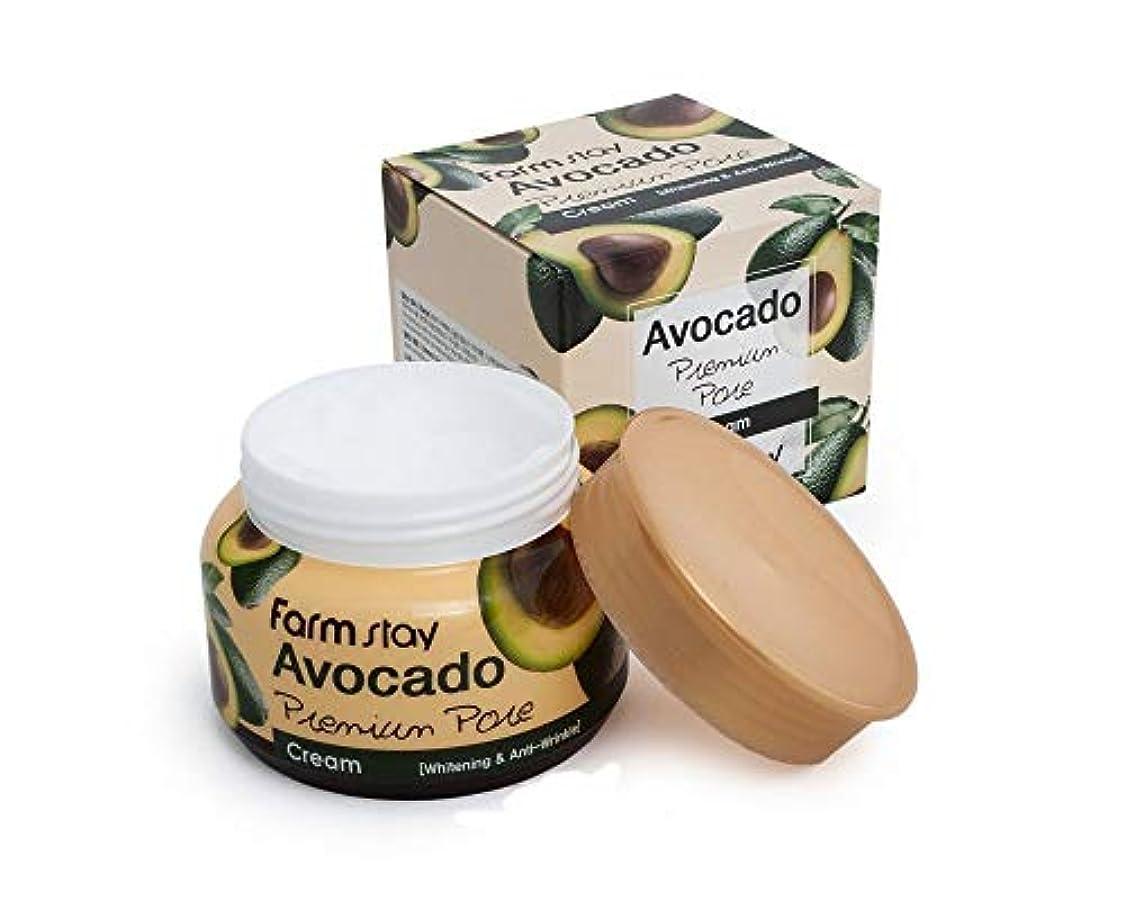 数字電気無秩序ファームステイ[Farm Stay] アボカドプレミアムポアクリーム 100g / Avocado Premium Pore Cream