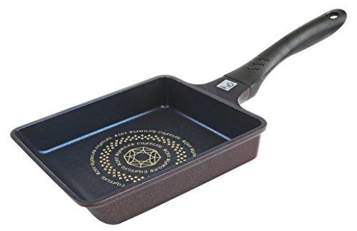 パール金属 卵焼き フライパン 13×18cm IH対応 玉子焼き器 ダイヤモンドコート HB-3502
