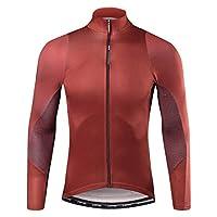 Santic(サンティック) サンティックメンズサイクルジャージサイクルパンツ3Dパッド自転車ウェア吸湿速乾性UVカットサイクルの摩耗のための自由な組み合わせの春と秋 XXXLサイズ ジャージ・レッド