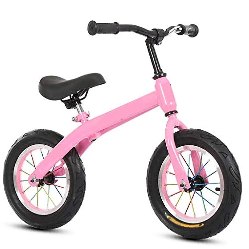 花瓶スワップセントバランスバイク、キックペダルなし自転車2歳から6歳の幼児用インフレータブルホイール(ブラックピンクブルー)
