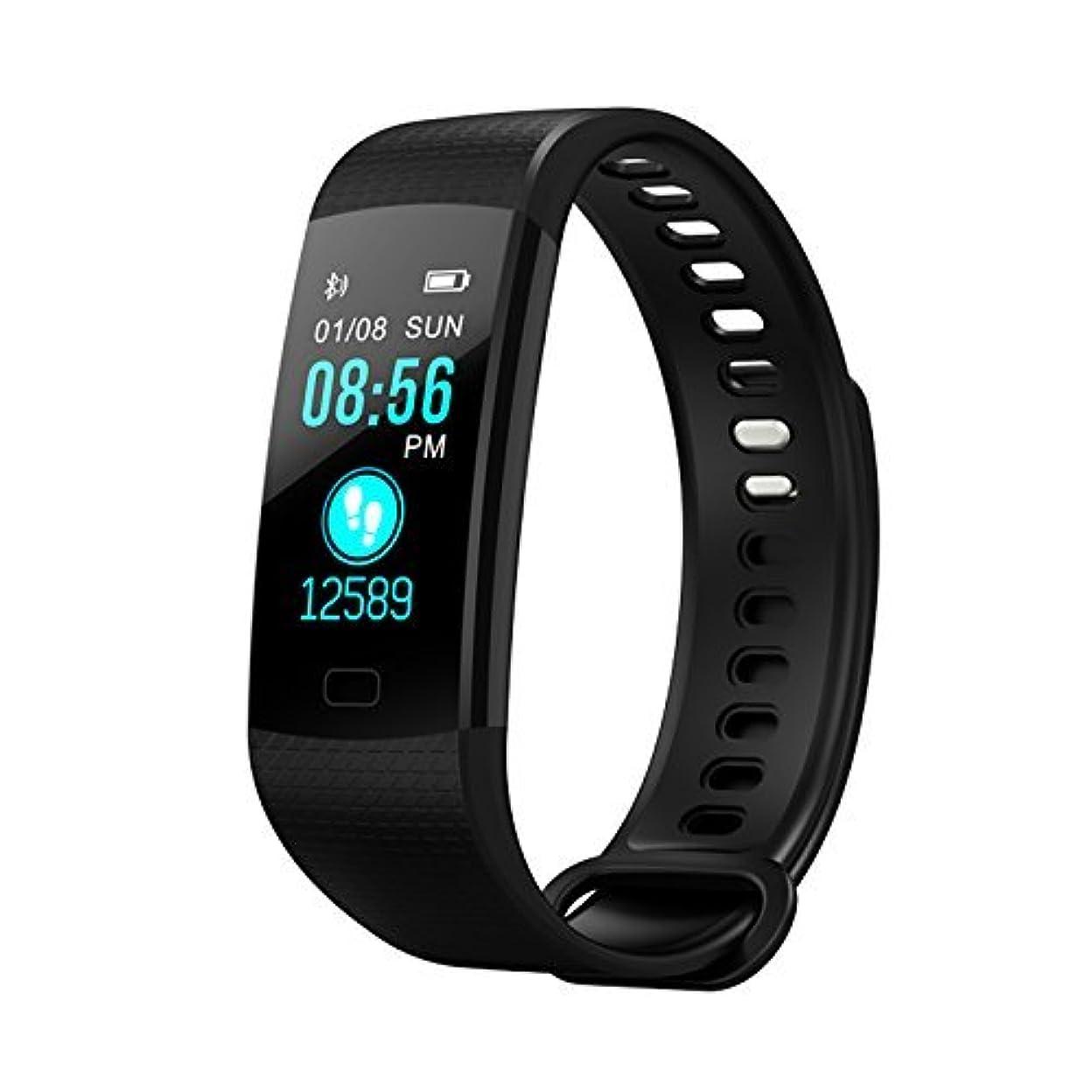 ダイアクリティカルシート耐えるFitness tracker、カラー画面スマートブレスレット、yimikyスマート防水時計血圧ハートレートモニター、フィットネストラッカー、歩数計の女性/メンズ/ kids- ブラック