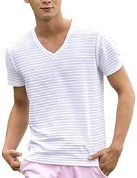 (エーエスエム) A.S.M メンズ Tシャツ 半袖 ピンタックボ-ダ-Tシャツ 02-66-8922