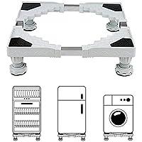 Leksaker 洗濯機 台 冷蔵庫 台 乾燥機 昇降可能 ドラム式も置ける洗濯機台 がたがた対策 底上げ 台 かさ上げ台 丈夫 耐加重300kg キズ パッド付き 騒音対策 減音効果 50cm~66cm 防振パッド付き ステンレス製