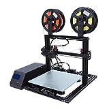 3Dプリンタ Bewinner 最新機種 2色印刷 高速100mm/s 0.4mmノズル 印刷サイズ:約300×300×10mm 3DプリンターDIYキット 家庭用品など印刷でき(米国プラグ)