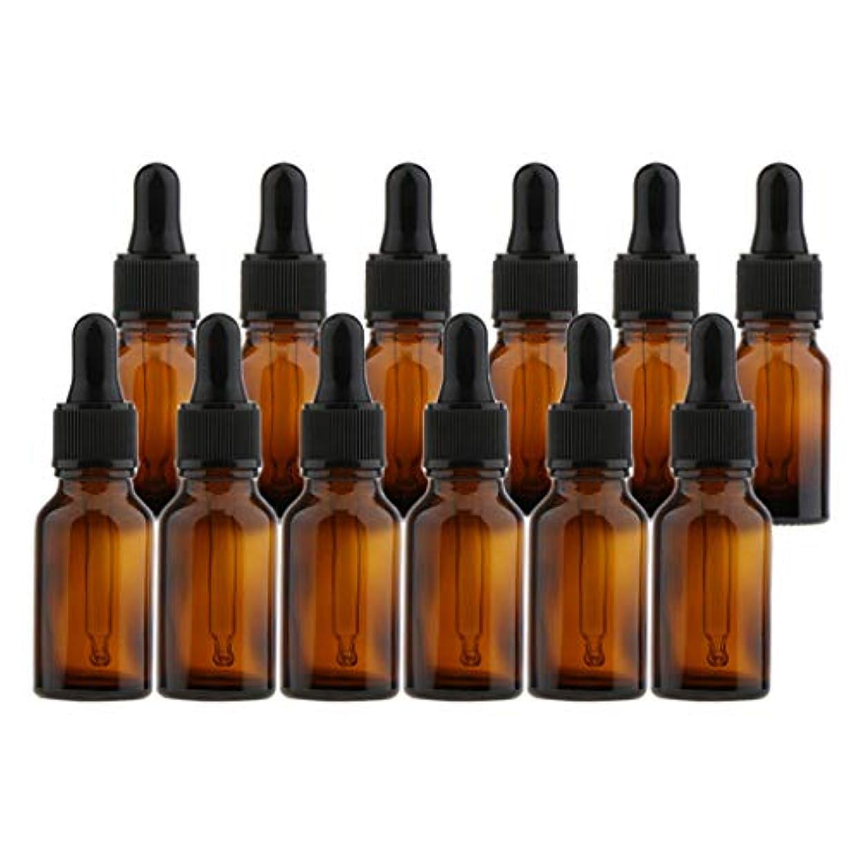 マチュピチュタイムリーなリア王dailymall 12個入りパック、詰め替え可能なエッセンシャルオイルブラウンスポイトボトル化学実験室化学ディスペンサー