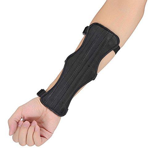 アーチェリー用 アームガード 腕 保護 アーム保護 射撃 安全保護 PUレザー 調節可能 ハンティング シューティング ブラック