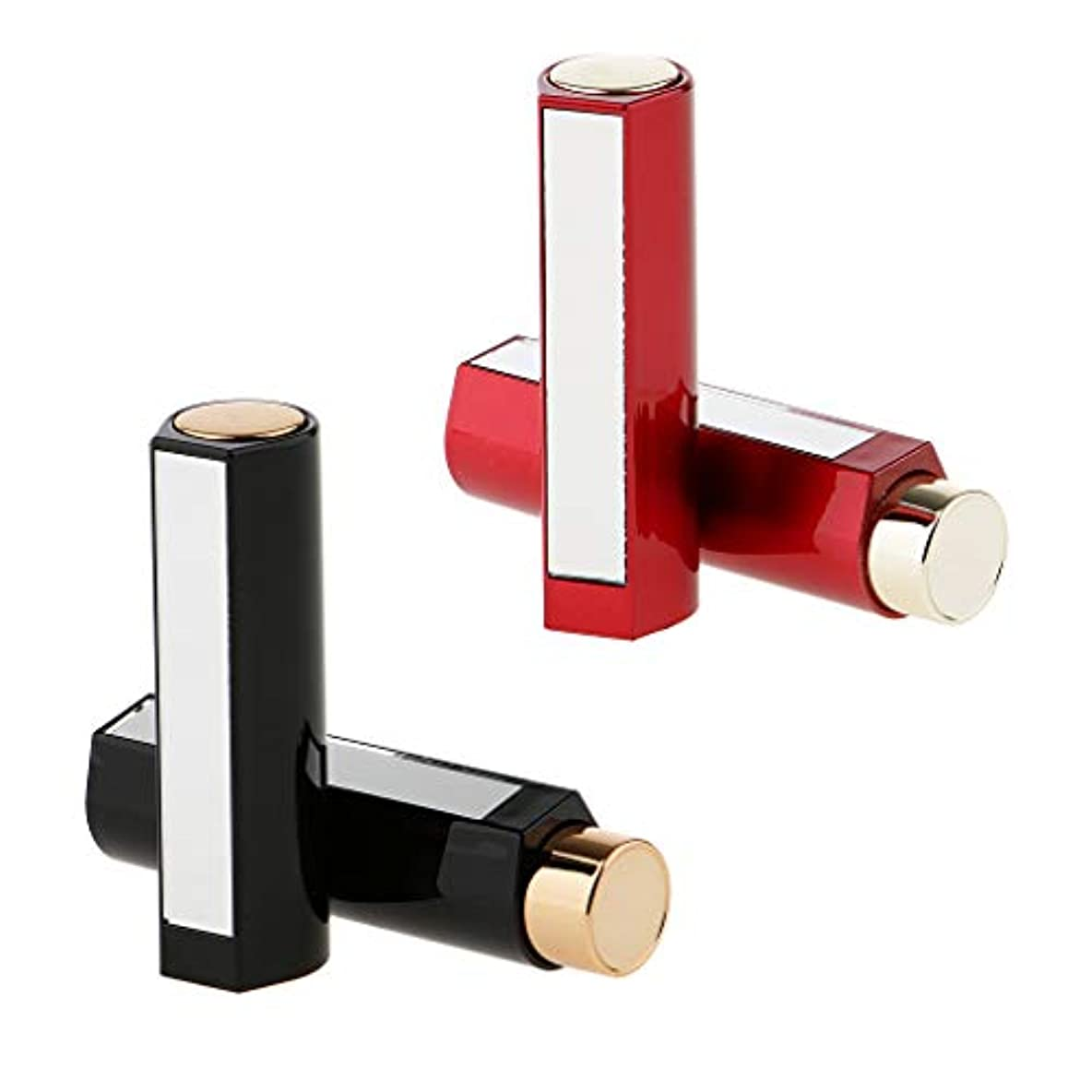 思いつく蛾九月4本セット 空チューブ 口紅容器 口紅チューブ リップスティックコンテナ 約7.5x 2cm