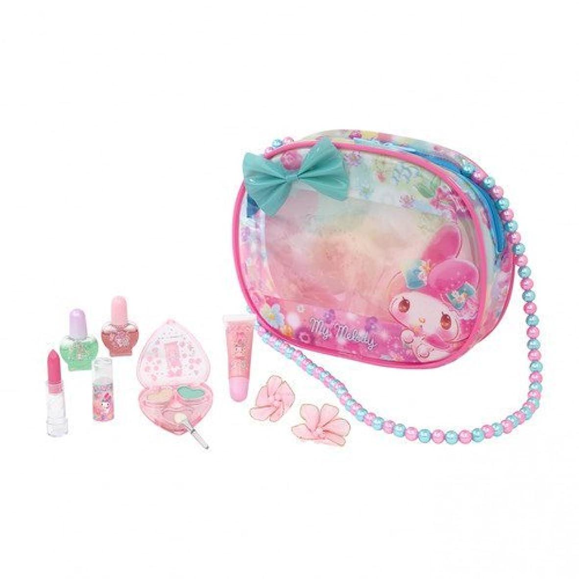 広告夕食を作る複雑なマイメロディ ファンシーコスメバッグ メイクアップセット (バッグ形ケース入りコスメセット)おしゃれな女の子に