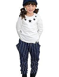 ded1b422fed45 Amazon.co.jp  ホワイト - パンツ   ガールズ  服&ファッション小物