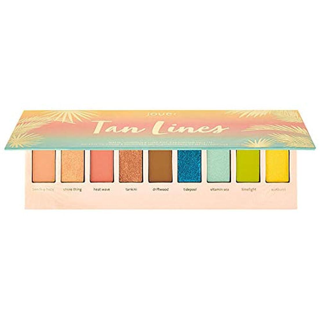 閉じ込めるすりソフィーJouer Cosmetics Tan Lines Matte, Shimmer & Luxe Foil Eyeshadow Palette