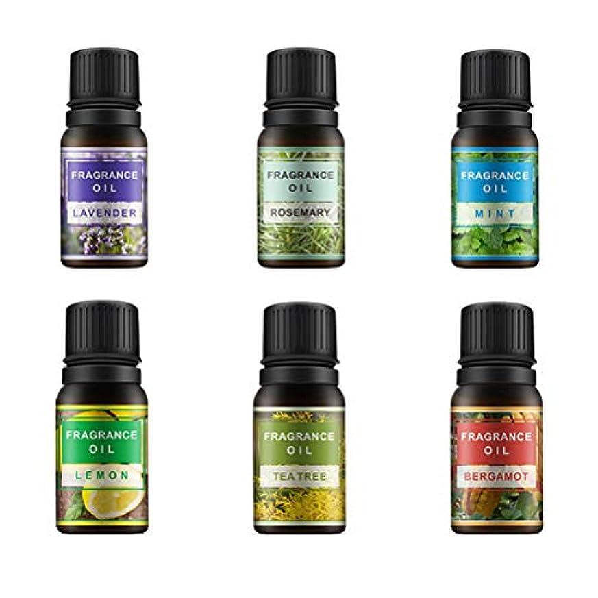 変更公式お風呂を持っているLurrose 6ピース10ミリリットル香りオイルエッセンシャルオイル治療香水アロマセットレモンラベンダーミントローズマリーティーツリーとベルガモット