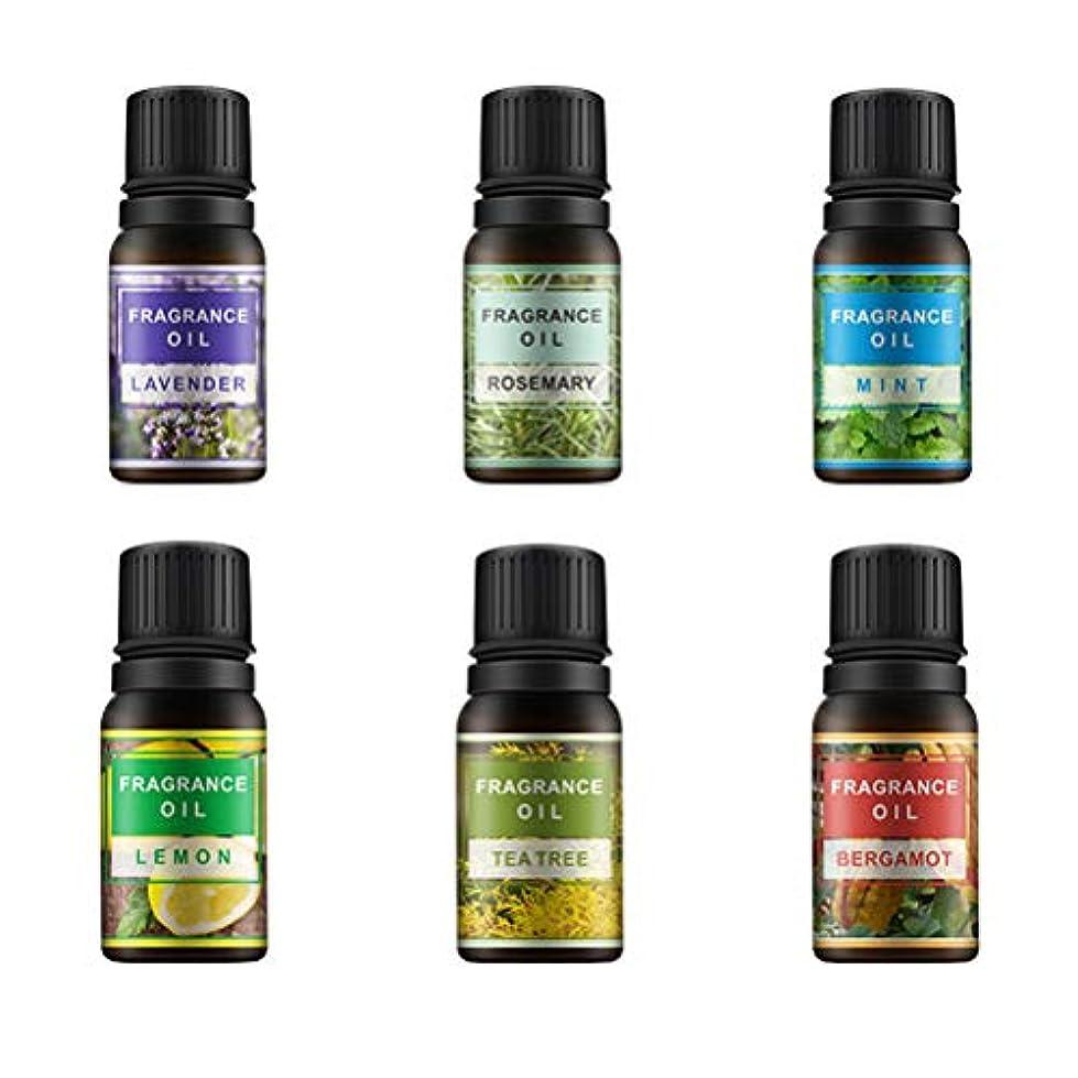 アクロバットの中で断片Lurrose 6ピース10ミリリットル香りオイルエッセンシャルオイル治療香水アロマセットレモンラベンダーミントローズマリーティーツリーとベルガモット