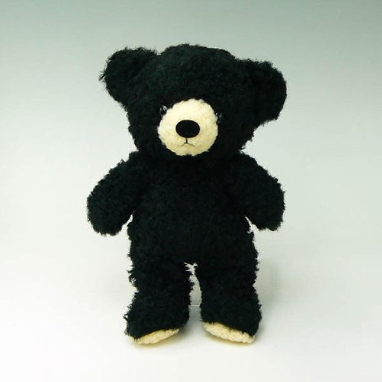 童心オリジナル 日本製 クマのフカフカM ぬいぐるみ 高さ29cm ブラック