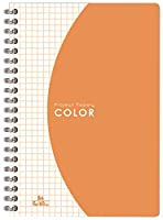 オキナ リングノート プロジェクトカラーノート オレンジ B6 PC1559 60枚