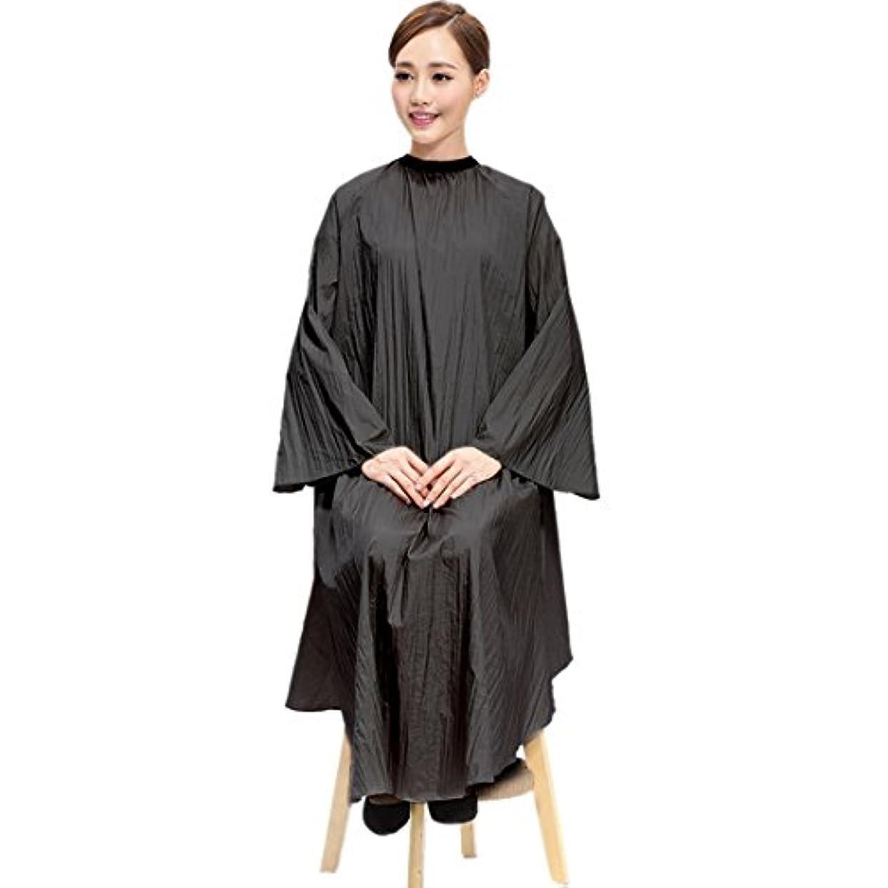 競争力のある差別する英語の授業があります[Jiyaru] 散髪ケープ ヘアエプロン 散髪マント サロン ヘア エプロン 散髪 ヘアーエプロン 175*145cm 美容師 刈布 黒 タイプ1