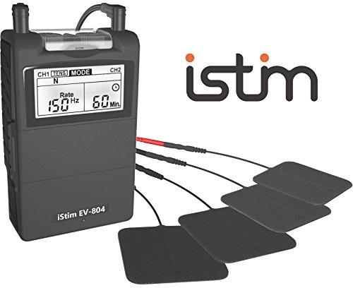 iStim EV-804 TENS+EMS コンボ機種 低周波マッサージ機 筋トレマシン 24種類のプリセットプログラム搭載 Massage Machine痛み コリ緩和 血行促進