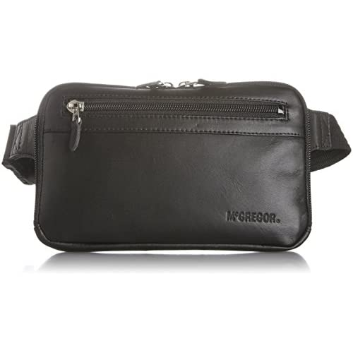 [マックレガー] McGregor ソフト牛革を使用した薄マチウェストバッグ 日本製 21960 BK (ブラック)