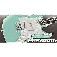 【国内正規品】 PLAYTECH プレイテック エレキギター ST250II Rose Surf Green