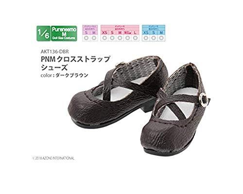 ピュアニーモ用 PNM クロスストラップシューズ ダークブラウン (ドール用)