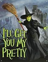 なまけ者雑貨屋 Wizard of Oz - Wicked Witch I'll Get You My Pretty Movie ブリキ看板 アメリカン 壁掛けプレート レトロ雑貨 インテリア
