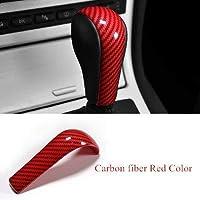 ABS ギアシフトハンドル装飾カバー Bmw の 5 シリーズ E60 04-07/X3 E83 06-10/6 シリーズ E63 04-06/X5 E53 04-06-Carbon fiber Red