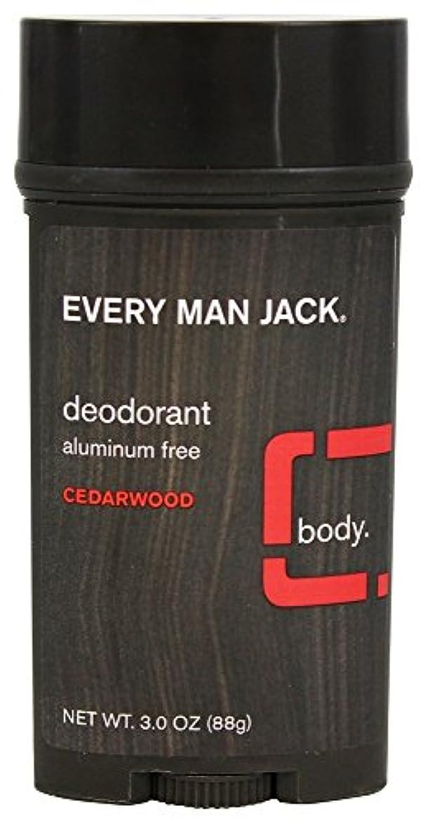 預言者たくさん机Every Man Jack - 防臭剤棒アルミニウムはCedarwoodを放す - 3ポンド [並行輸入品]