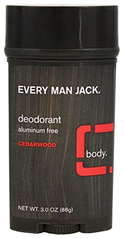 ラテンたとえヘルシーEvery Man Jack - 防臭剤棒アルミニウムはCedarwoodを放す - 3ポンド [並行輸入品]