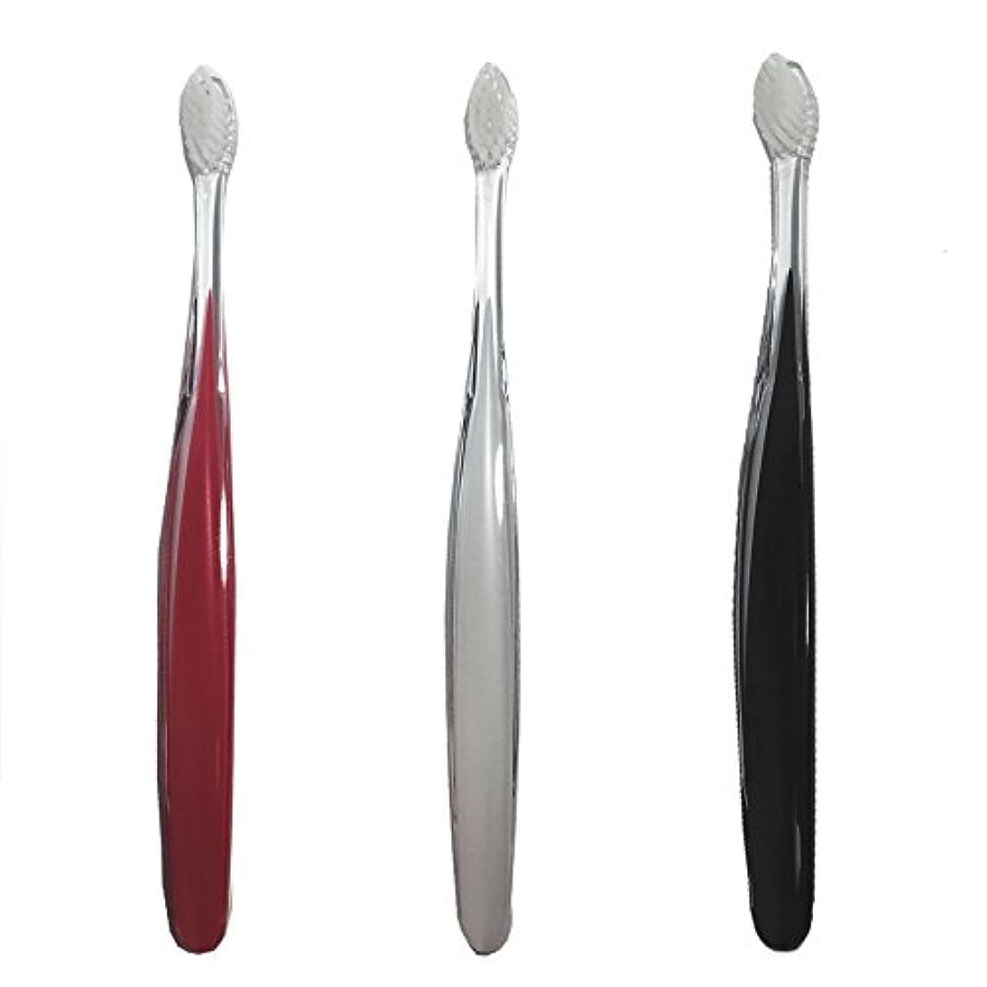 現実的図書館薬局サムライ(SAMRAI)歯ブラシ ふつう 3色セット