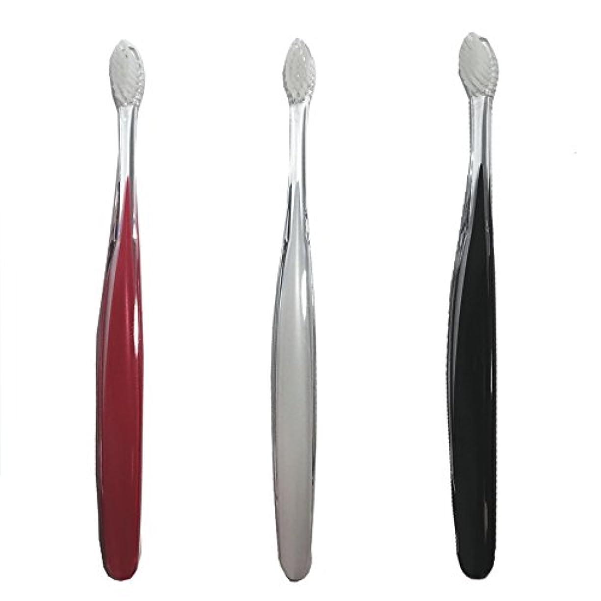 演じる朝の体操をする同種のサムライ(SAMRAI)歯ブラシ ふつう 3色セット