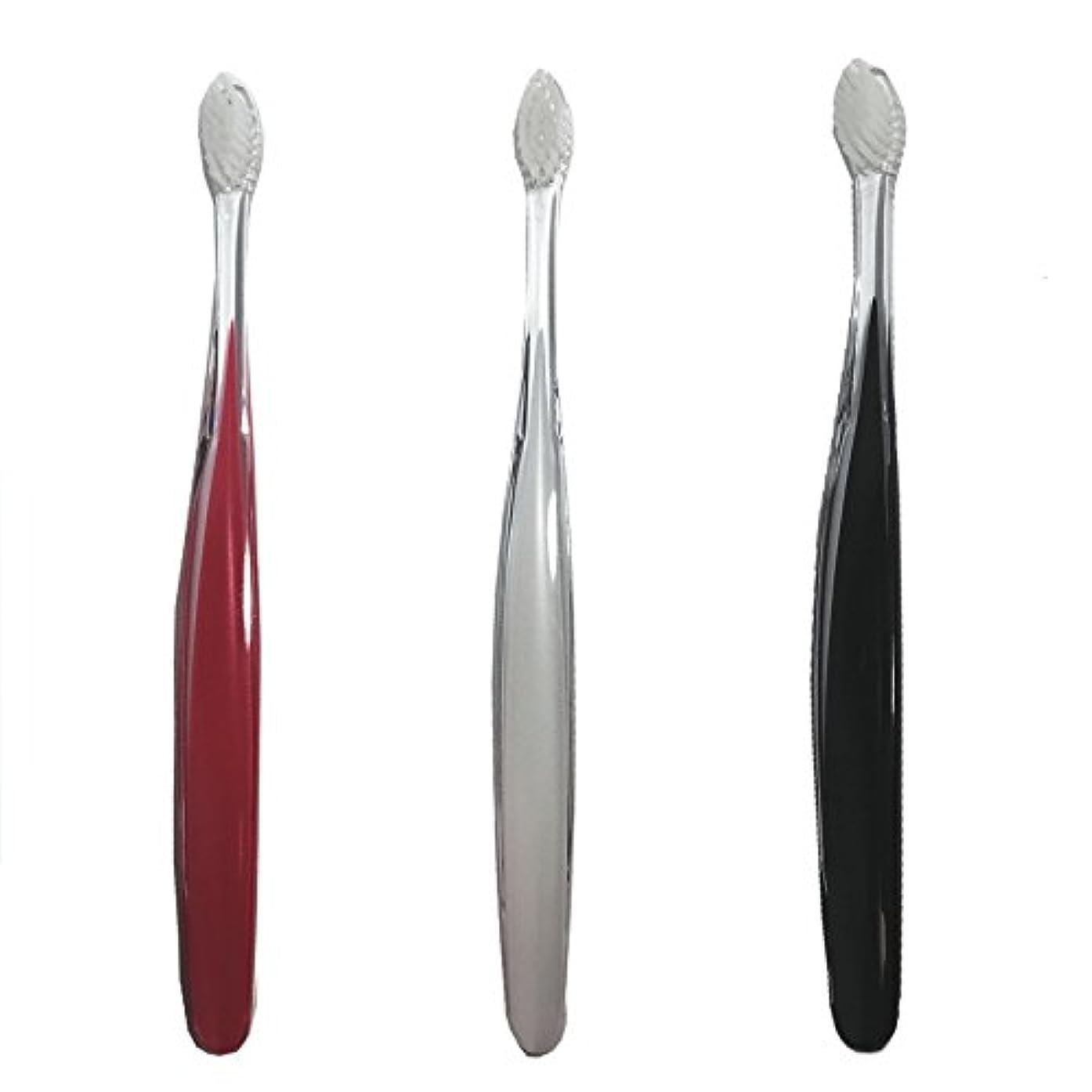 反対に鉱石イヤホンサムライ(SAMRAI)歯ブラシ ふつう 3色セット
