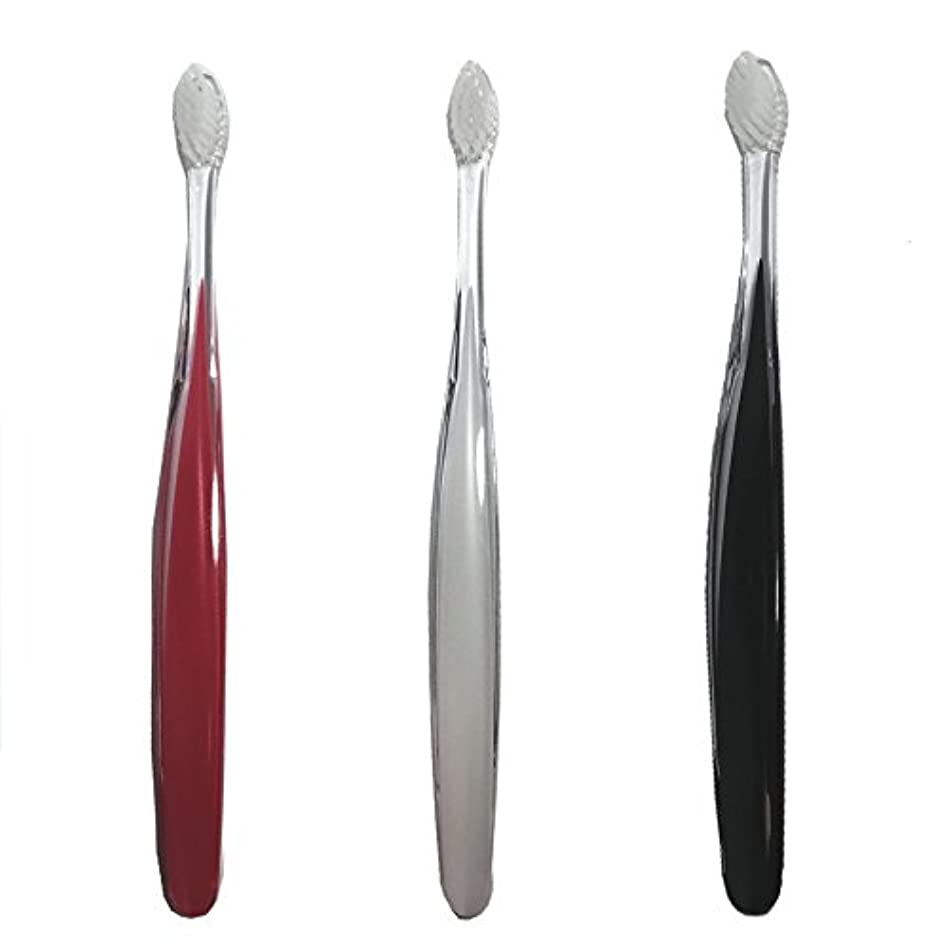 予約自我会社サムライ(SAMRAI)歯ブラシ ふつう 3色セット