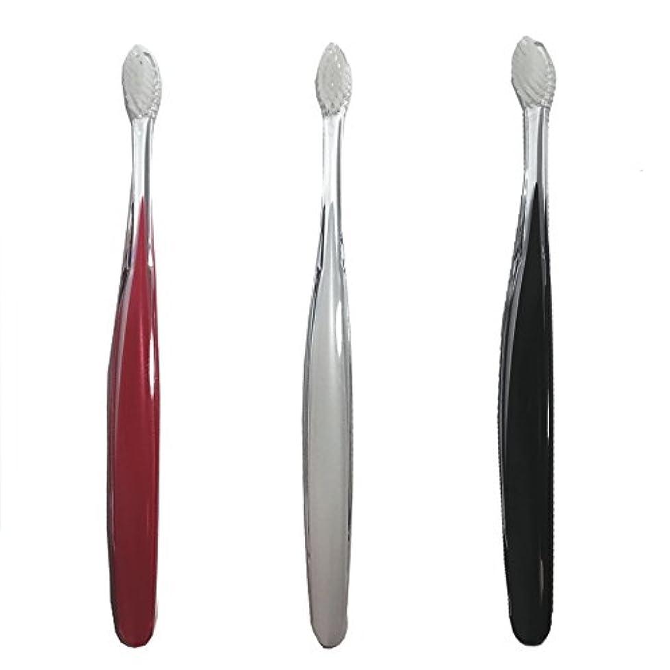 ラッシュスマート継続中サムライ(SAMRAI)歯ブラシ ふつう 3色セット