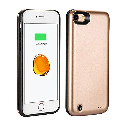 PZX 3800mAh 超大容量 軽量 バッテリー内蔵ケース iPhone7 充電操作可能 バッテリーケース 急速充電 ケース型バッテリー iPhone7, ゴールド