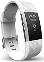 TERSELY Watch Band Strap for Fitbit Charge 2, Classic Soft TPU Silicone Adjustable Replacement Bands Fitness Sport...