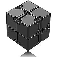 Infinity Cube Toys 無限キューブ 任意の方向と角度から回転でき ストレス消し 悪習に改善して おもちゃ マジック (ブラック)