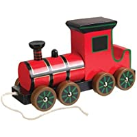 Wooden Steam Train Pull-Along (Orange Tree Toys) [並行輸入品]