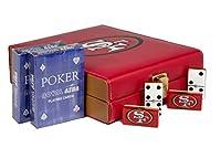San Francisco 49ers Deluxe Set 2ゲーム: Dominó、ポーカーカード2