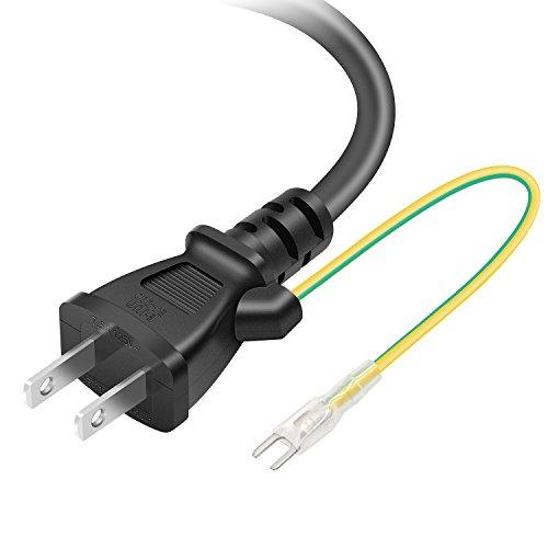 「PSE認証済み」 POWSEED AC電源ケーブル ACコンセント コネクター パワーコード 電源変換ケーブル・アダプタ 3ピンソケット(メス)⇔2ピンプラグ(オス) アース線付き トラッキング対策 ストレートタイプ 定格7.5A-125V 2m
