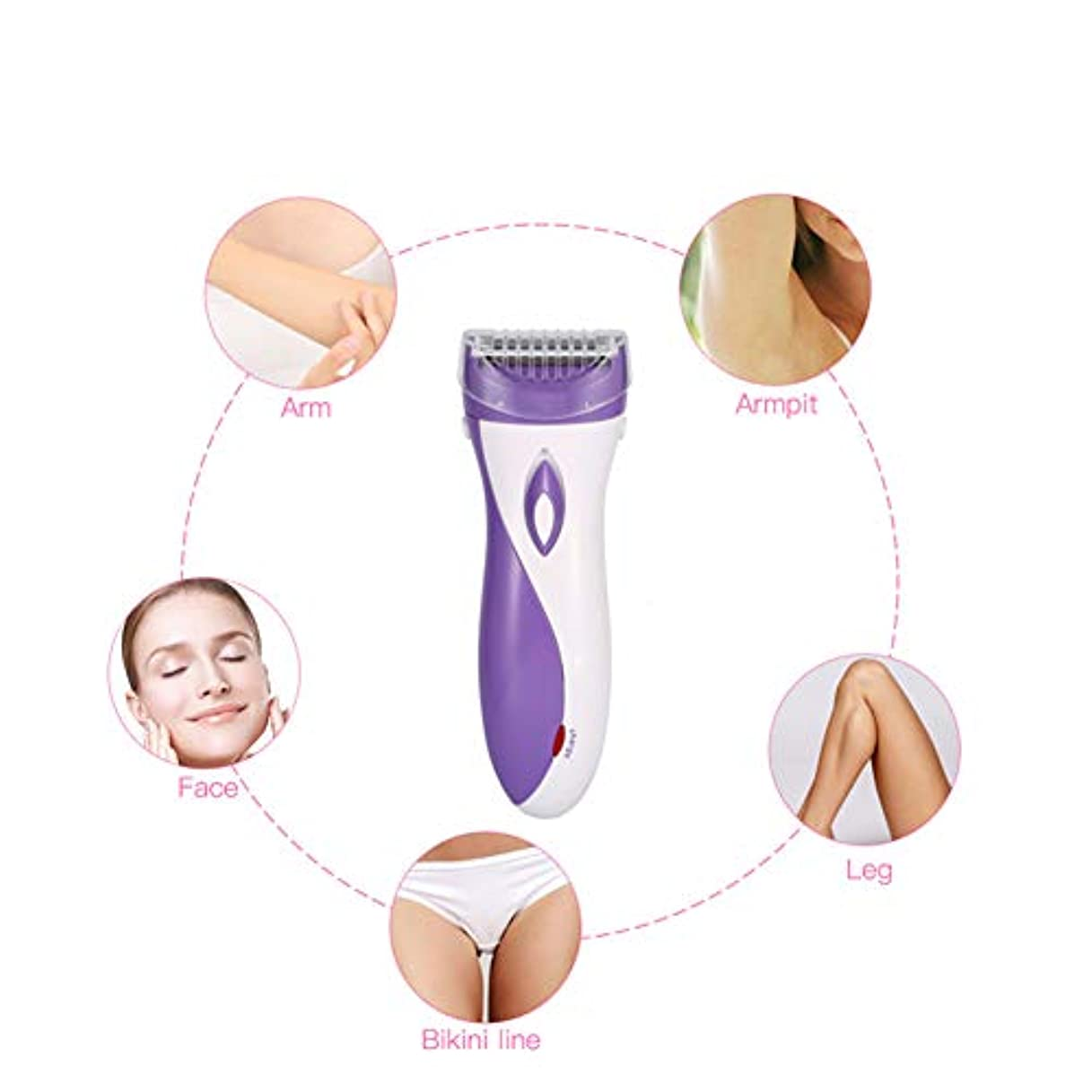 敬礼署名イタリック女性の電気毛の除去剤、ボディ顔の毛の除去剤、小型方法女性首の足のビキニのトリマー